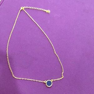 Jewelry - Boutique gold necklace w/ blue stone. NWOT